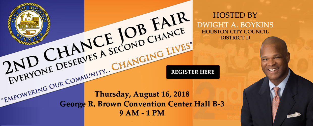 2ND Chance Job Fair - Hosted by Dwight A Boykins